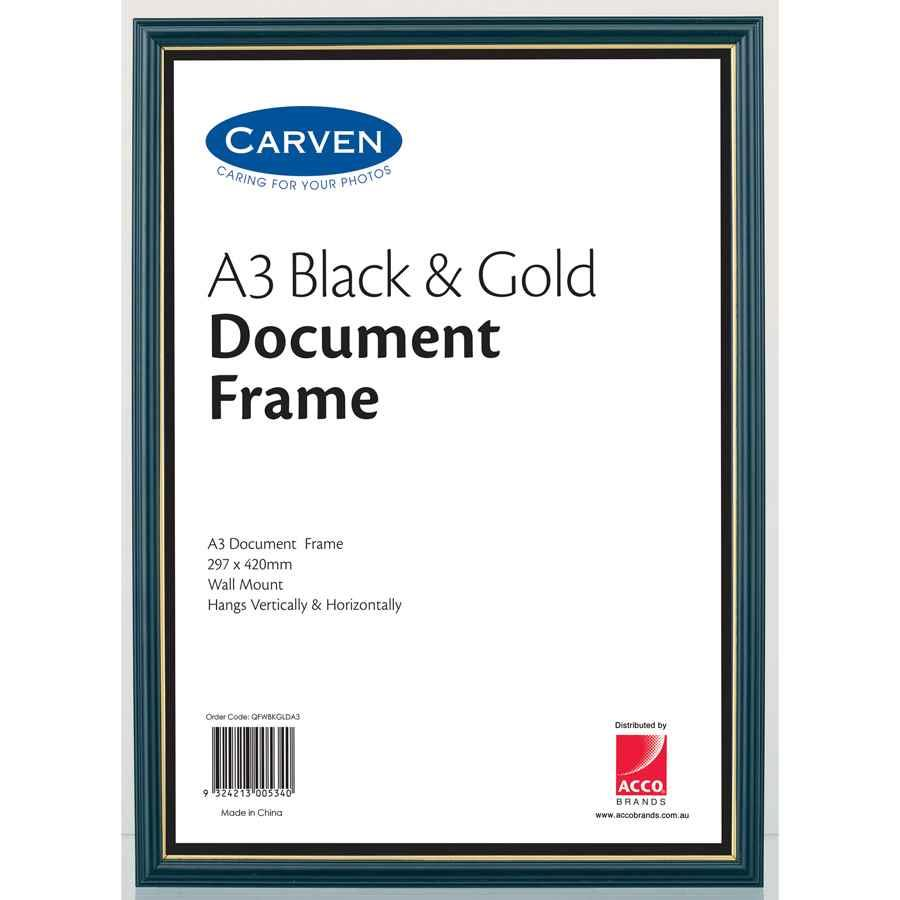 Carven Document Frame A3 Fram1075 Cos Complete Office Supplies