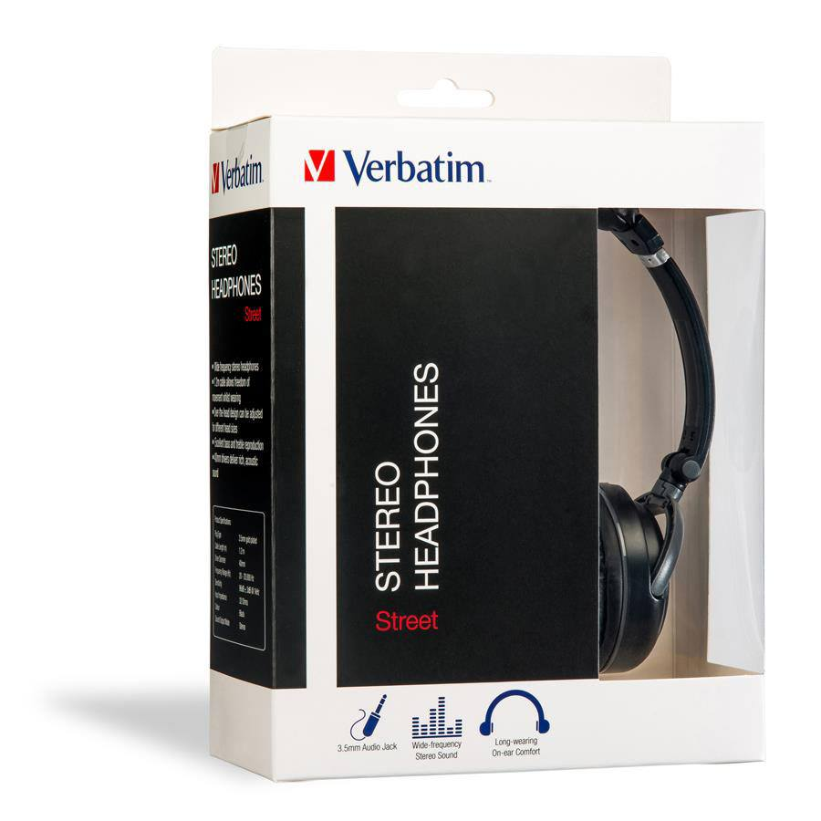 Verbatim Earphones On Ear Classic Head4587 Cos Complete Office Supplies