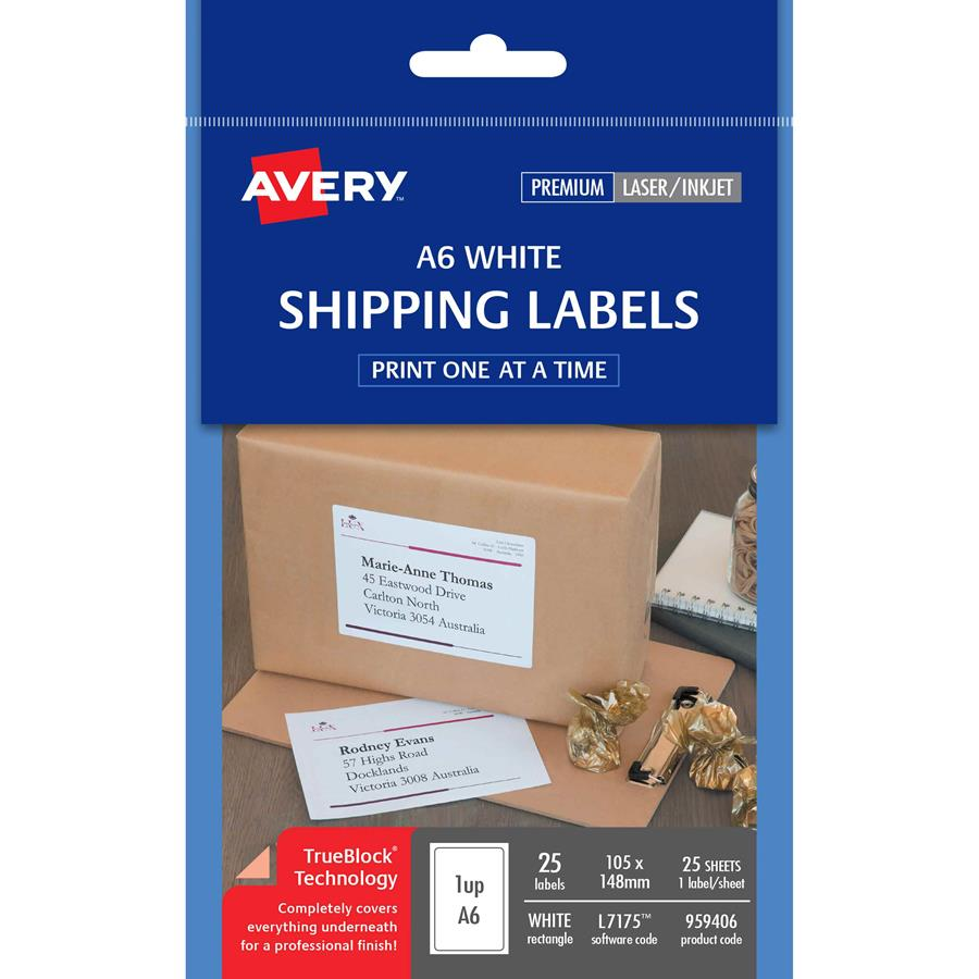Avery Inkjet Labels J8167 1 Sheet Cos Complete Office Supplies