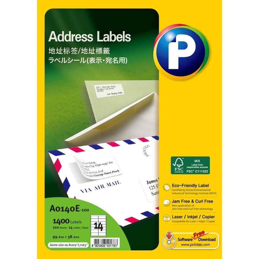 Avery General Use Labels L7163 14 Up Labl5433 Cos Complete