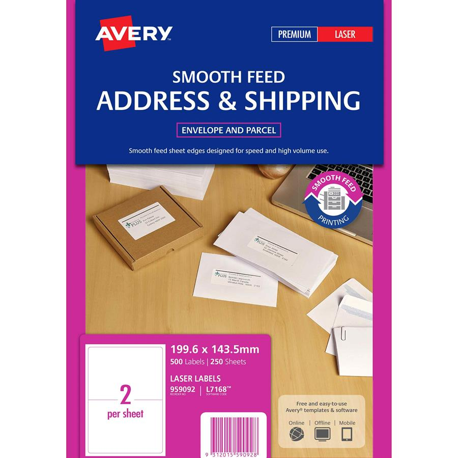 avery laser labels trueblock l7168 2up labl5572 cos complete