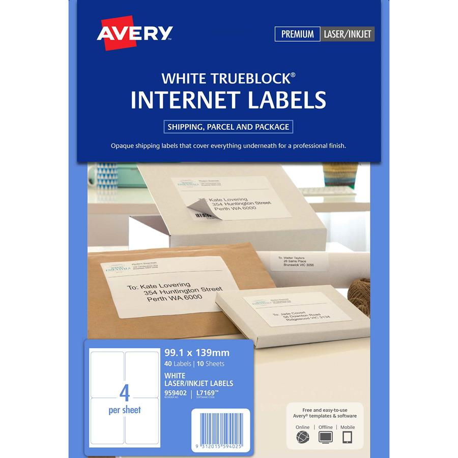 Avery L7169 4up Internet Shipping Labels Labl5628 Cos Complete