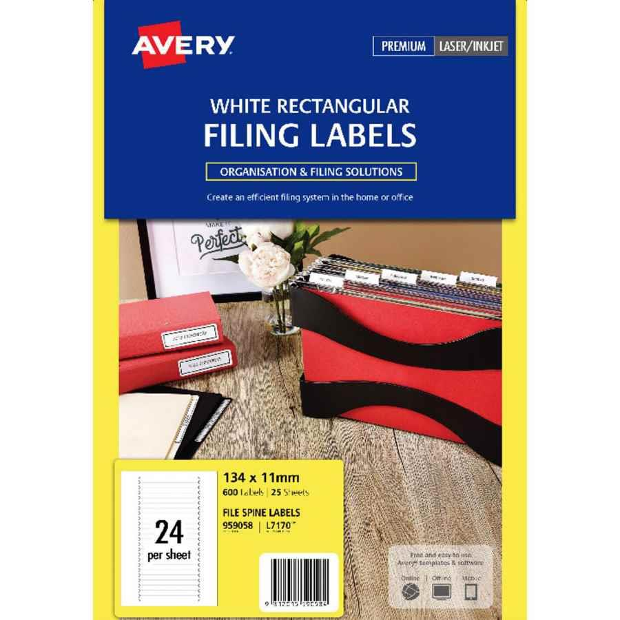 avery laser labels l7170 24up file spine labl5658 cos complete