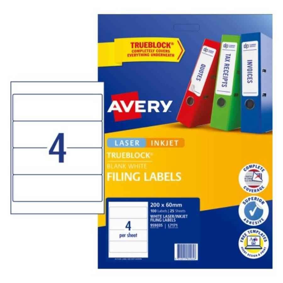 avery laser labels l7171 4 sheet l a labl5660 cos complete