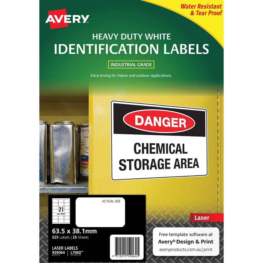 avery laser labels l7060 21 sheet hduty labl5692 cos complete