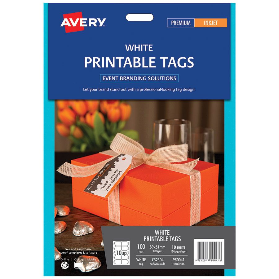 picture relating to Avery Printable Tags known as Avery Printable Tags 89 x 51mm - LABL5894 COS - Comprehensive