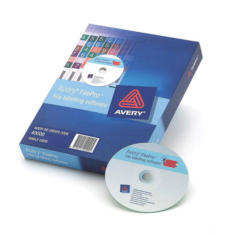 COS Avery FilePro Label Software 1 User
