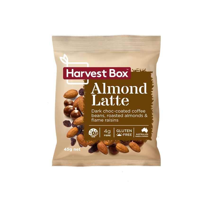Harvest Box Almond Latte 45g Snac1037 Cos Complete
