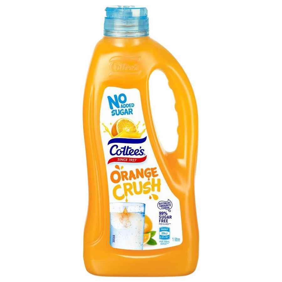 COS Cottees Diet Cordial Orange Crush 1L