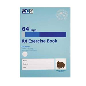 COS Exercise Book A4 PP 8mm 64Pg