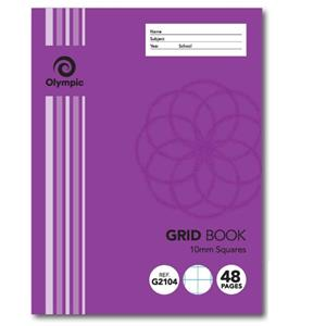 COS Exercise Book 225x175mm 10m Grid 48 Pg
