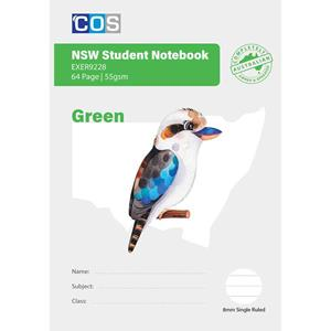 COS Student NSW Notebook 8mm S/R 64Pg