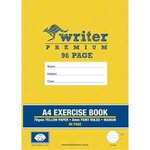 COS Writer Prem Exercise Book A4 8mm 96 Pg