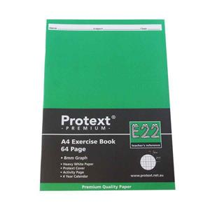 COS Protext Exercise Book A4 8mm Grid 64 Pg
