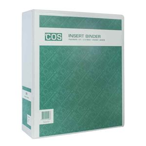 Insert Binder W/ Perm Label A4 4D 65mm