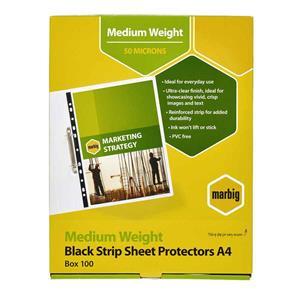 COS Marbig A4 Sheet Protectors