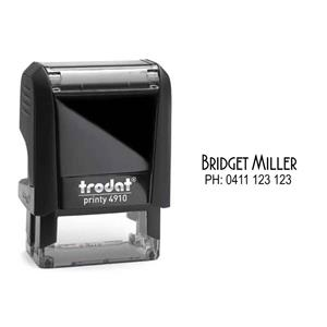 COS Self Inking 26 x 9mm Custom Stamp