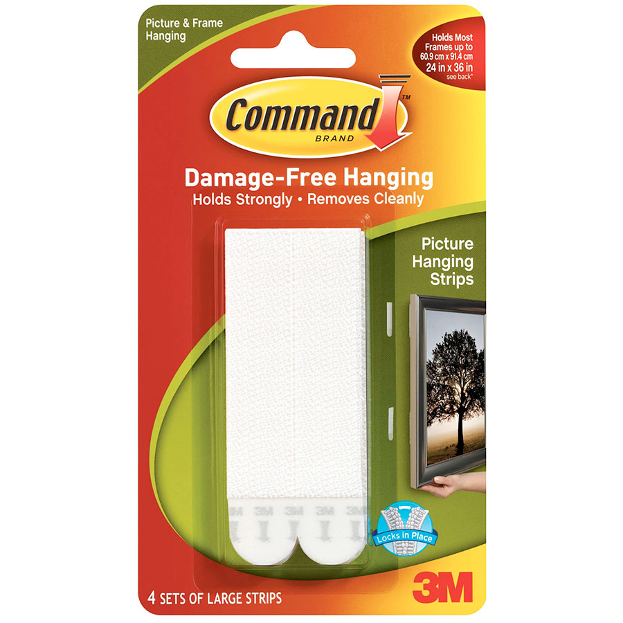 3m Command Picture Hanging Strips Large Cos Complete