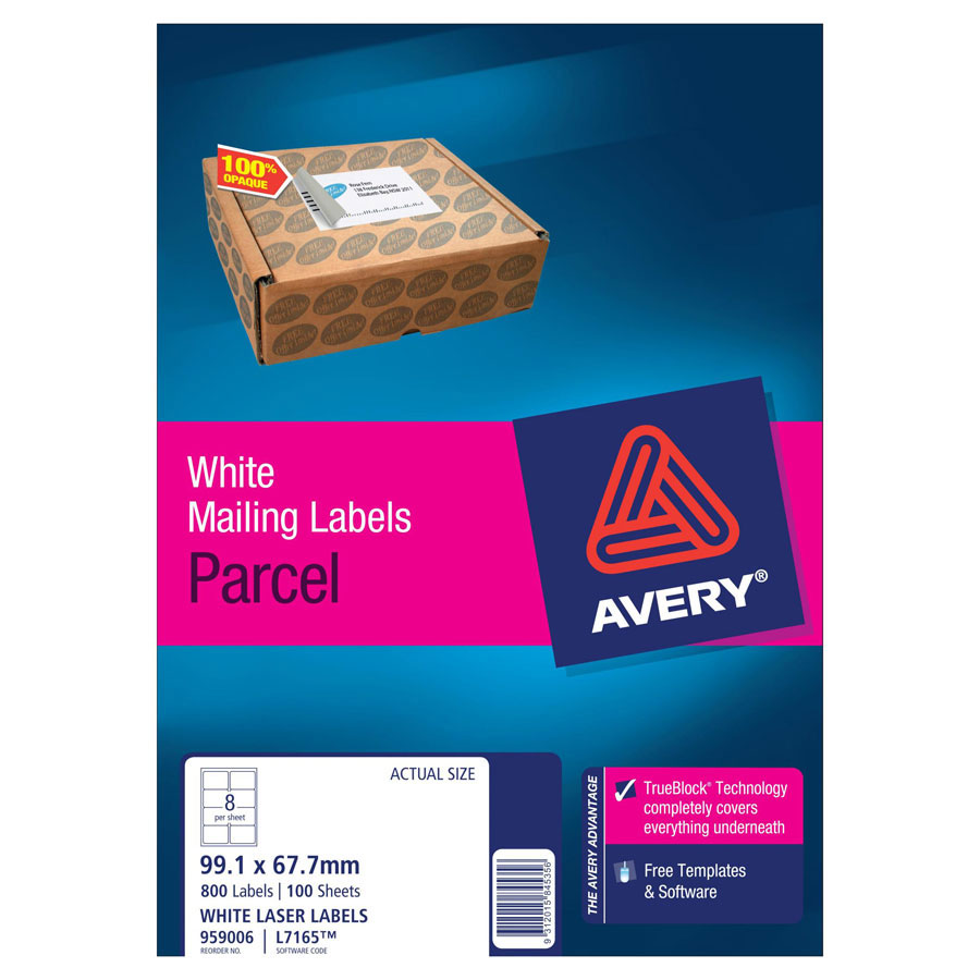 Avery Laser Labels L7165 8 / Sheet